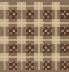 checkered gingham plaid fabric seamless pattern vector image
