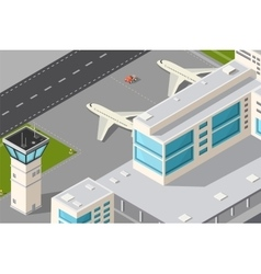 city airport vector image