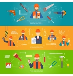 Construction Banner Set vector