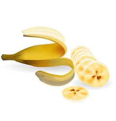 Cut banana vector