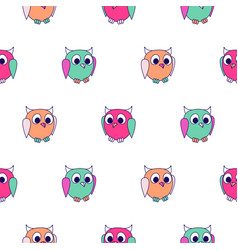 cute animals kids seamless pattern child zoo vector image