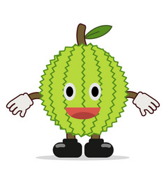 Cute durian character funny design vector