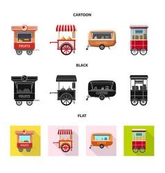design of market and exterior symbol set vector image