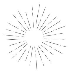 Doodle design element sunburst hand drawn vector