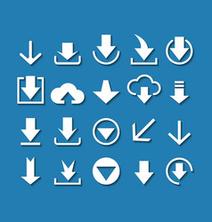 Download arrow icon set vector image