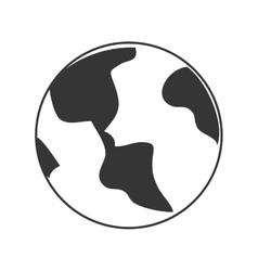 Earth planet theme design icon vector image