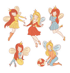 Fairy characters wedding vector