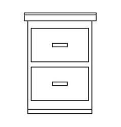 File cabinet document image vector