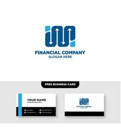 Financie arrow growth logo design and business vector