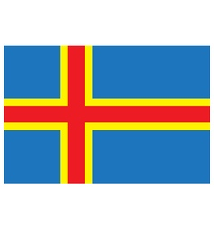Flag of aland vector image
