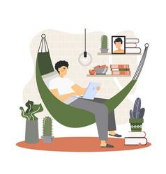 freelance worker flat style design vector image