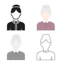 Grandmother icon cartoon single avatarpeaople vector