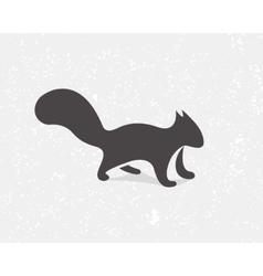 Gray squirrel logo or icon vector image