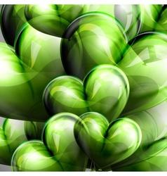 green balloon hearts vector image
