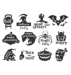 halloween sticker badge 1 vector image