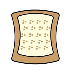 Halved bread bakery breakfast design vector