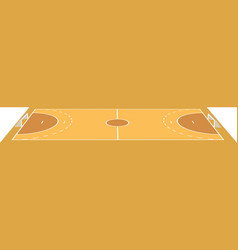 handball field vector image