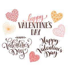 Happy valentine day phrases vector
