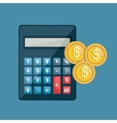 Icon calculator coin invoice design vector