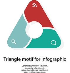 Infographic with triangle motif on white vector