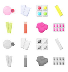 Isolated object bubblegum and product sign vector