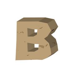 Letter b stone font rock alphabet symbol stones vector