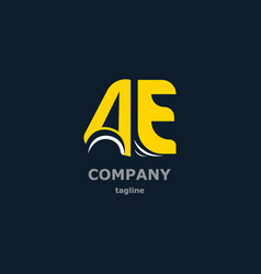 Letter logo for the company name vector