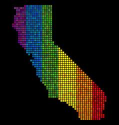 lgbt pixel california map vector image
