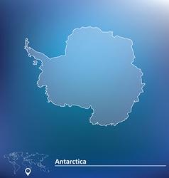 Map antarctica vector