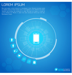 Mobile device futuristic infographics vector