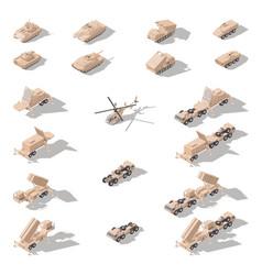 modern military equipment in desert camouflage vector image