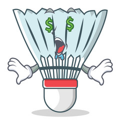 Money eye shuttlecock character cartoon vector