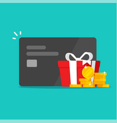 Money reward gift perks bonus cash on credit bank vector