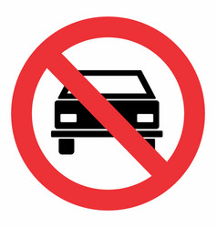 no car traffic sign vector image