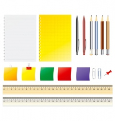 office accessories vector image