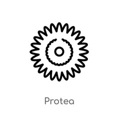 Outline protea icon isolated black simple line vector