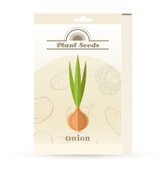 pack onion seeds icon vector image