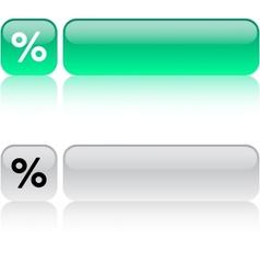 Percent square button vector