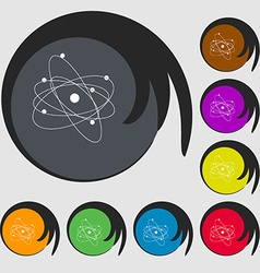 physics atom big bang icon Symbols on eight vector image
