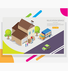 Relocation service web banner design vector