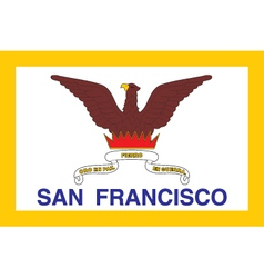 San Francisco City Flag vector image vector image