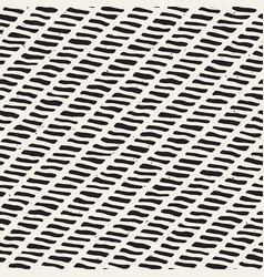 Seamless ink geometric pattern monochrome black vector