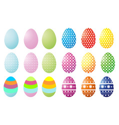 Set of ilustration colorful easter egg vector