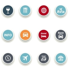 set of round iconsTravel vector image