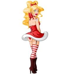 Sexy Santa vector image