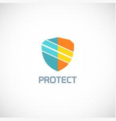 shield protect technology logo vector image