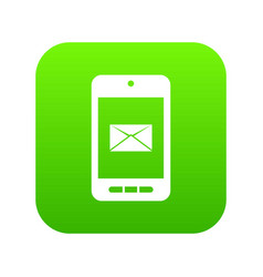 smartphone with email symbol on the screen icon vector image