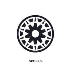 Spokes isolated icon simple element from sew vector