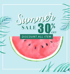 summer social media advertising holiday on sale vector image