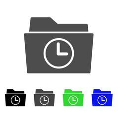 Temporary folder flat icon vector